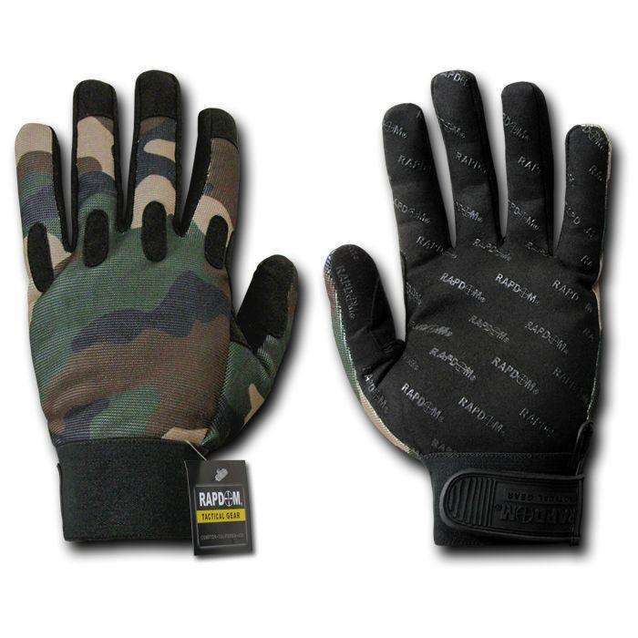 Woodland Forest Camo Camouflage Tactical Hunting Gloves