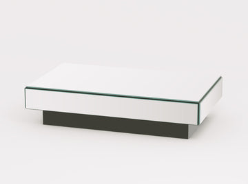 Reflex Small Mirrored Rectangle Coffee Table - Conceptus Collection