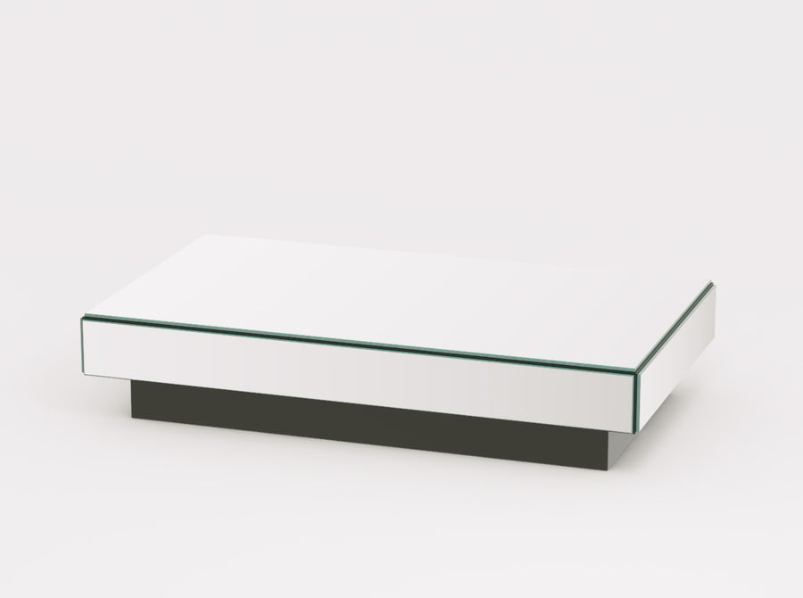 Reflex Large Mirrored Rectangle Coffee Table