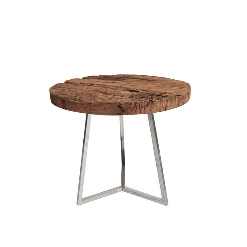 Rustic Round Side Table