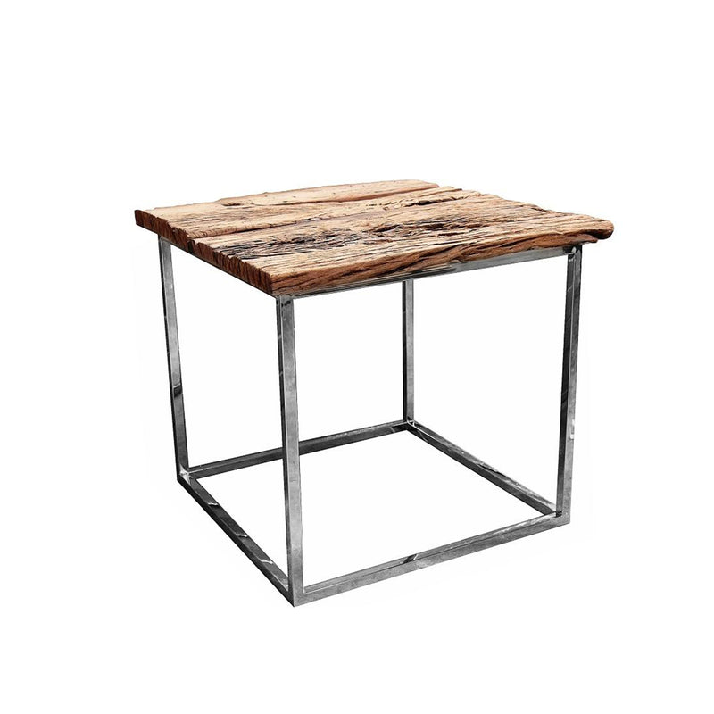 Rustic Square Side Table
