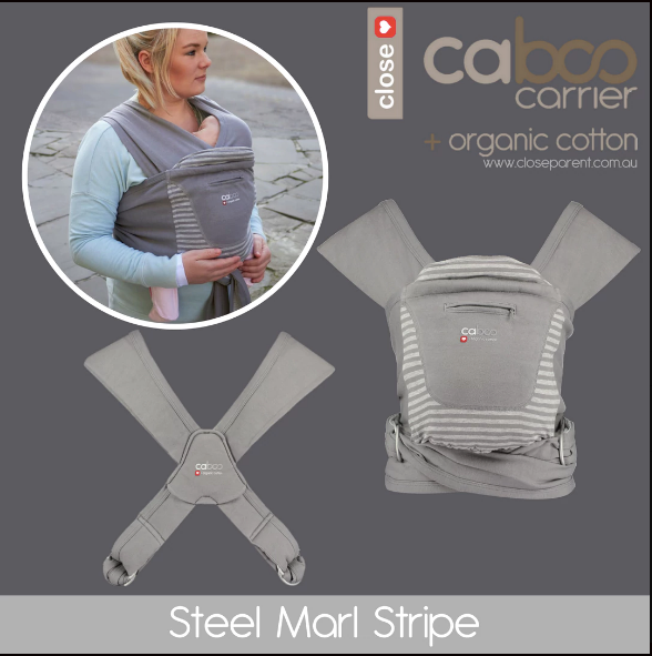 Caboo Organic Cotton Printed Baby Carrier + FREE Organic Swaddle Blanket