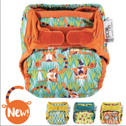 Close Pop-in New Gen V2 One Size Bamboo Printed Nappy NEW
