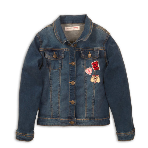 girls denim jacket patches cool kids clothes apparel