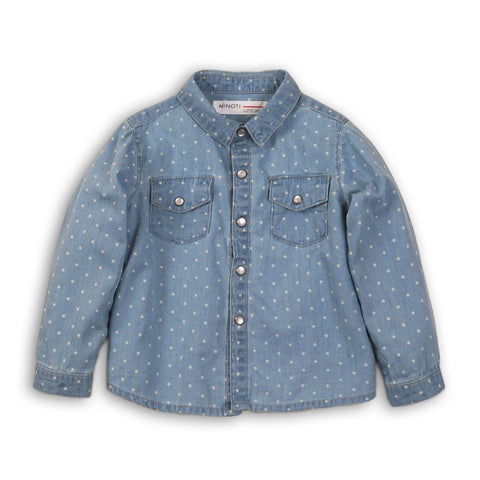 Girls Stars Denim Shirt
