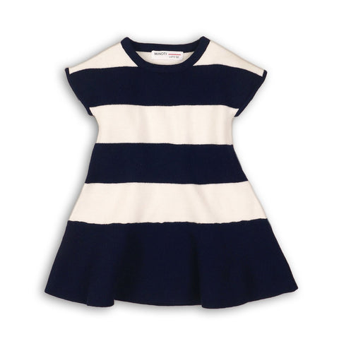grils knitted stripes navy dress kids clothes
