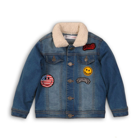 jacket patches denim kids boys cool clothes