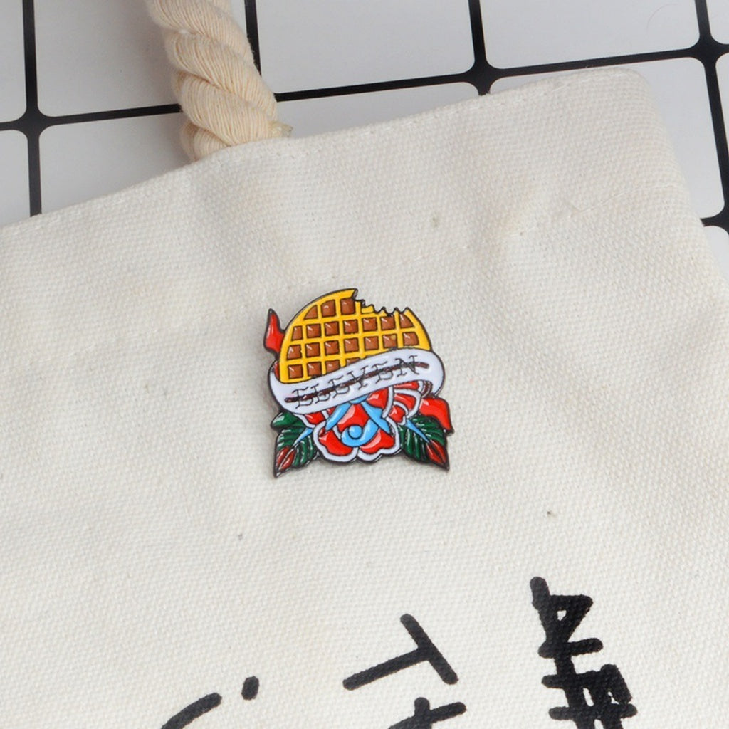 ... Elevenu0027s Waffle Stranger Things Enamel Pins Lapel Pins Badges Brooches  For Men Women Cloth Backpack Accessories ...