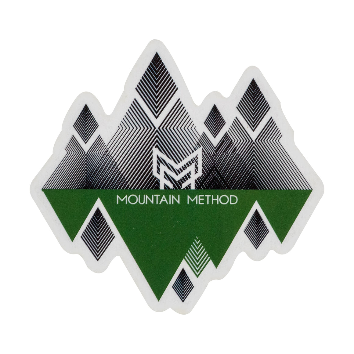 Mountain Method | Geo Mountain Sticker 3x3 | Accessories