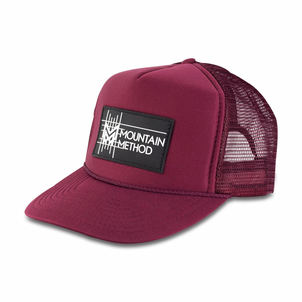 Icicle Creek Trucker Hat | Gridline Patch | Maroon | Clothing