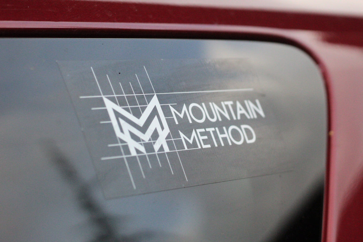 Mountain Method | gridline Sticker 6x3 | Accessories