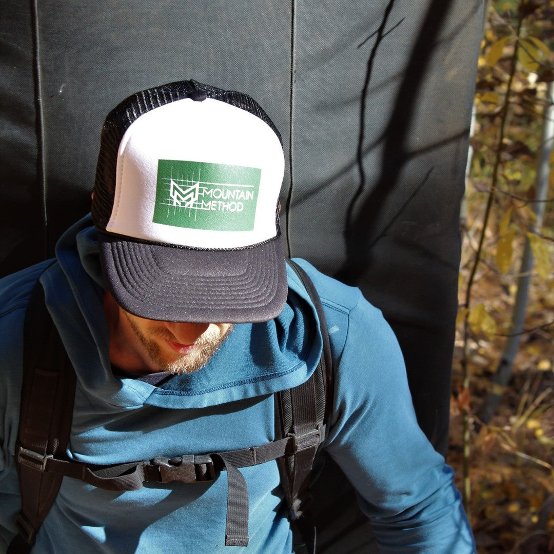 Icicle Creek Trucker Hat | Gridline | Black | Clothing