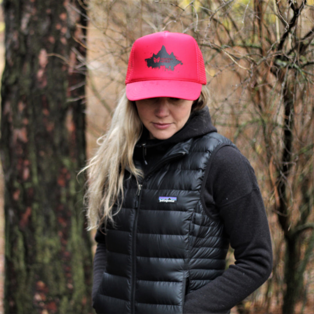 Icicle Creek Trucker Hat | Summit Peaks | Red | Clothing
