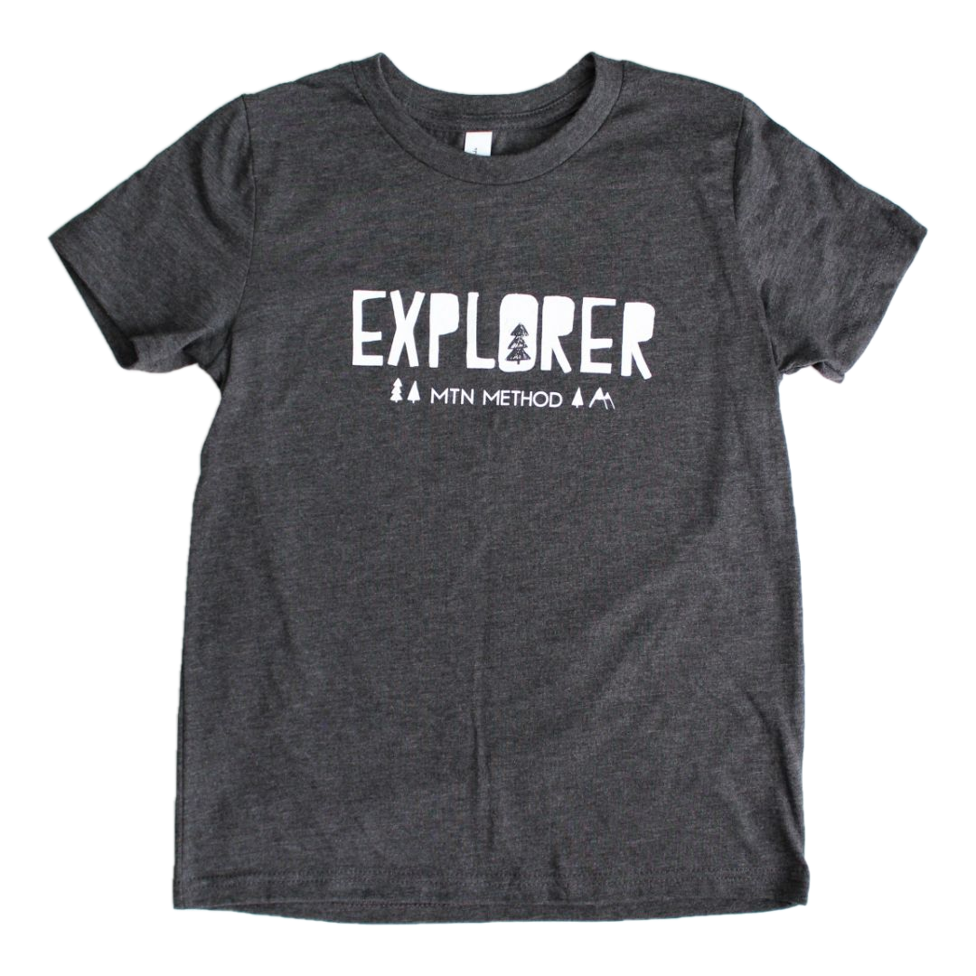 Mountain Explore Kids Tee - Dark Grey
