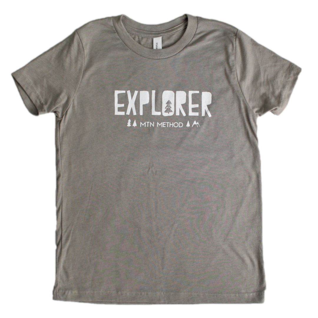 Mountain Method Explorer Tee - Kids - Stone
