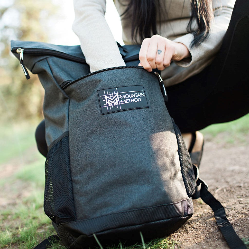 Mountain Method | Black Pine Roll Top Back Pack | Accessories