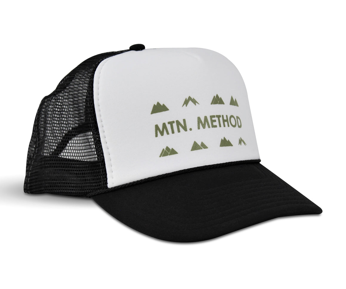 Rocky Mountain Trucker Hat - Black & White