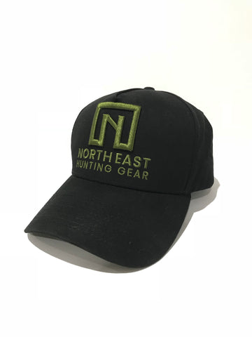 A Frame Hat - Black Hat with Green logo