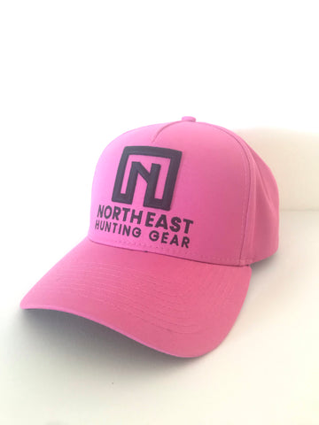 A Frame Hat - Pink Hat with Black logo