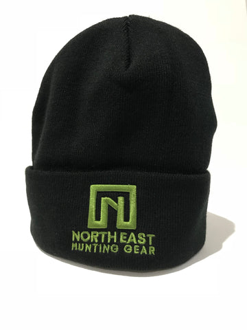 Beanie Black with Green Logo