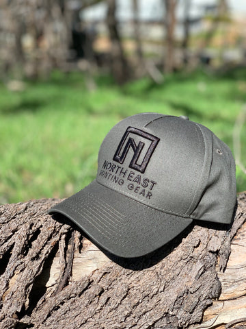A Frame Hat - Dark Grey Hat with Black logo