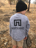 NEHG Kids Grey Jumper - Black Logo
