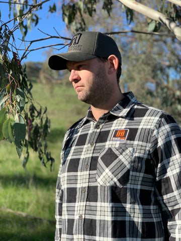 NEHG Black & White Flannel Shirt