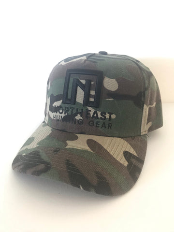 A Frame Hat - Camo Hat with Black logo