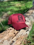 A Frame Hat - Burgundy Hat with Black logo