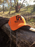 A Frame Hat - Blaze Orange Hat With Black logo
