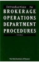 Introduction to Brokerage Operations Department Procedures