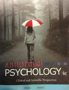 Abnormal Psychology 4Th Edition
