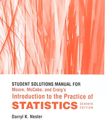 Study Guide/Solutions Manual for Introduction to the Practice of Statistics
