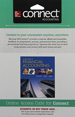 Fundamentals of Financial Accounting with Connect