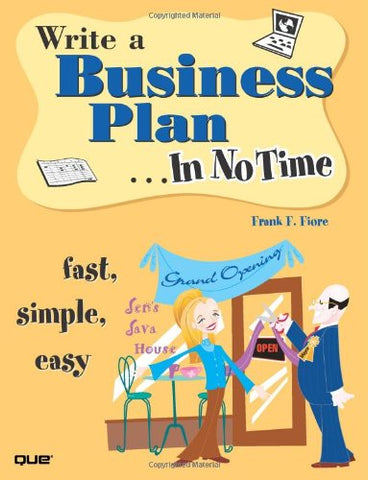Write a Business Plan In No Time