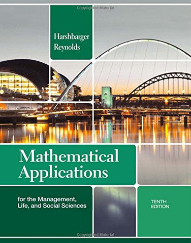 Mathematical Applications For The Management, Life, And Social Sciences (Textbooks Available With Cengage Youbook)