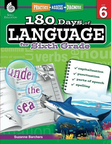 180 Days of Language for Sixth Grade (180 Days of Practice)