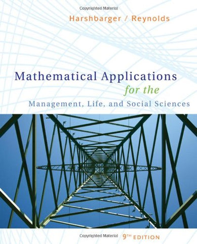 Mathematical Applications For The Management, Life, And Social Sciences (Available 2010 Titles Enhanced Web Assign)