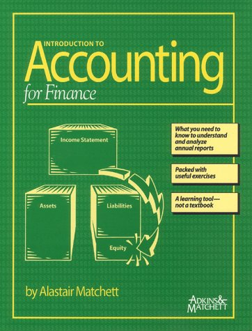 Introduction to Accounting for Finance