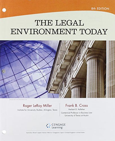 Bundle: The Legal Environment Today, Loose-Leaf Version, 8Th + Mindtap Business Law, 1 Term (6 Months) Printed Access Card