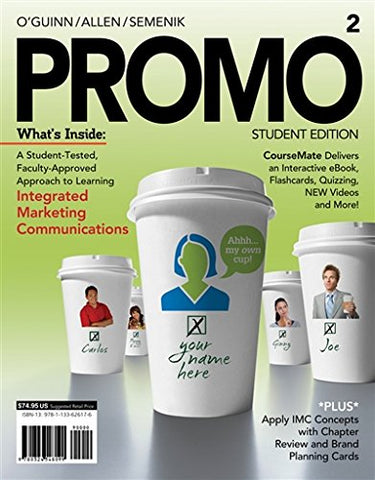 PROMO2 (with CourseMate, 1 term (6 months) Printed Access Card) (Engaging 4LTR Press Titles in Marketing)