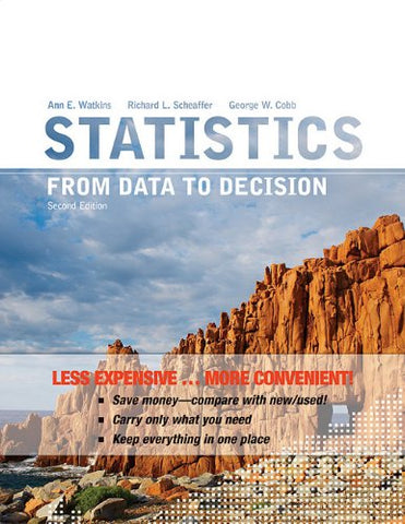 Statistics: From Data To Decision