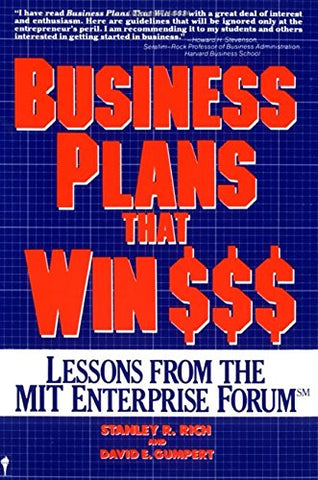 Business Plans That Win $$$: Lessons from the MIT Enterprise Forum