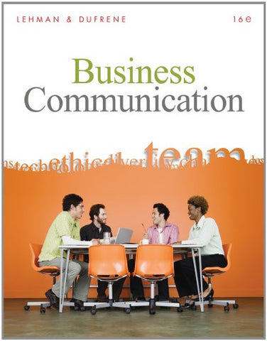 Bundle: Business Communication (With Teams Handbook), 16Th + Aplia Printed Access Card + Aplia Edition Sticker