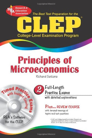 CLEP Principles of Microeconomics w/ CD-ROM (CLEP Test Preparation)