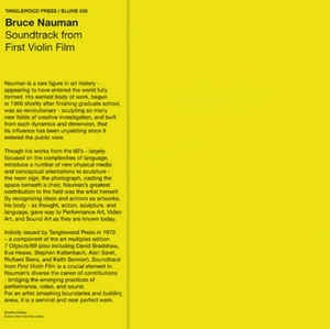 Bruce Nauman - Soundtrack From First Violin Film (LP)