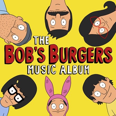 "OST  - The Bob's Burgers Music Album (coloured vinyl, hardcover lyric book, softcover sheet music book, 3 posters, sticker pack, patch + MP3 download coupon) (LPx3+7"" box set)"