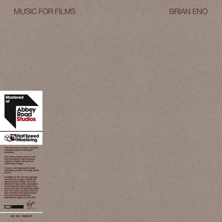 Brian Eno - Music For Films (Half-Speed 2LP)