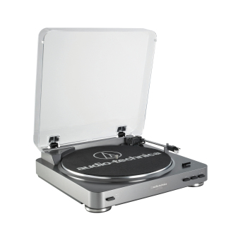 Audio-Technica - AT-LP60 Fully Automatic Turntable (Silver)