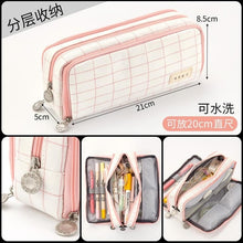 Load image into Gallery viewer, Large Capacity Kawaii Canvas Pencil Case